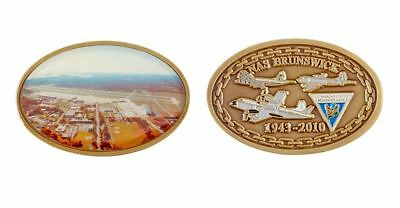 Brunswick Naval Air Station Oval Coin