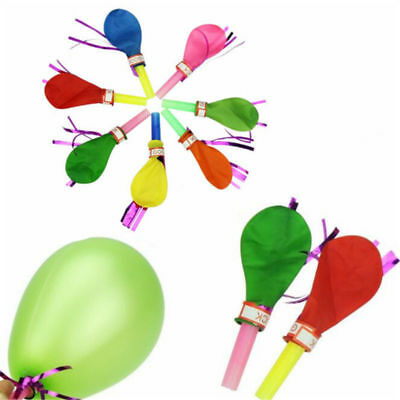 100PCS Whistle Balloons Trumpet Baby Shower Party Bag Fillers Supplies Gifts
