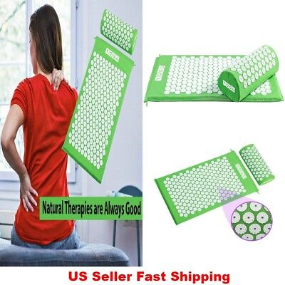 Christmas Gift Acupressure Mat and Pillow Set for Stress Back/Neck Sciatic Pain