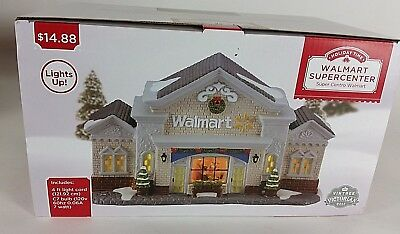 NEW HOLIDAY TIME WALMART SUPER CENTER VICTORIAN Christmas Village Scene