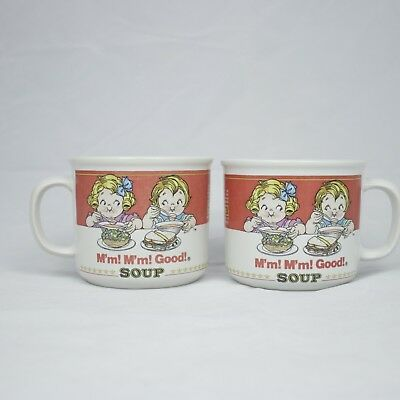Vtg Set Of 2 Campbell's Soup Mugs Homestyle & M'm! M'm! Good! Westwood 1991
