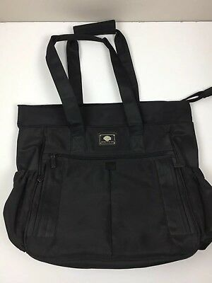 Harley Davidson Baby Diaper Bag All Black 14 x 16 x 6 NO Changing Pad