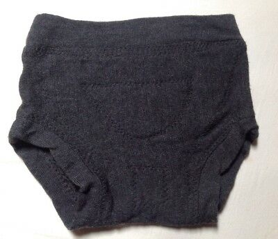 Large Toddler Unisex Grey Merino Wool Cloth Diaper Cover Trim Fit Absorbent