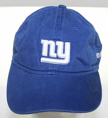 12c98d39748 New York Giants NFL Football Cap Reebok Blue Buckle Strapback Hat 1 Sz Fits  All
