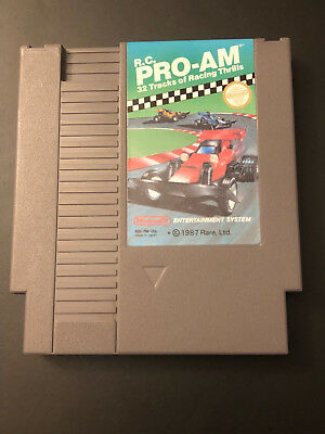 NES RC Pro-Am Nintendo Entertainment System CLEANED & TESTED MINT!