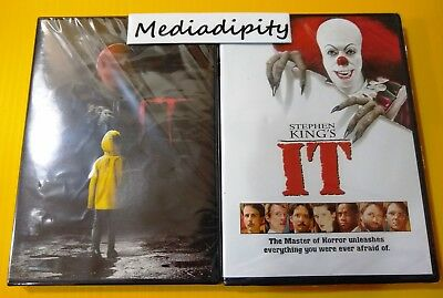 Stephen King's IT DVD 1990 & 2017 / 1 & 2 Movie Collection LOT Both Films - NEW