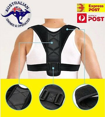 Posture Clavicle Support Corrector Brace Back Straight Shoulders Strap Correct