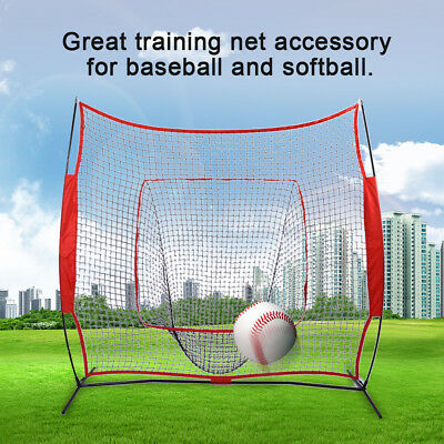 7' x 7' Portable Softball Baseball Training Practice Net Tennis Outdoor Yard AU
