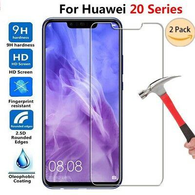 2Pcs Huawei MATE 20 Pro Lite Tempered Glass Screen Protector Premium Film 9H LOT
