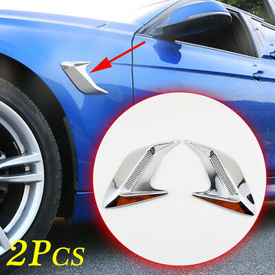Chrome Car Door Body Side Sticker Simulation Air Vent Trim Universal Accessories
