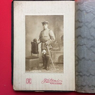 Japan Old Photo Japanese Soldier With Sword Meiji Period 1868-1912 Vintage
