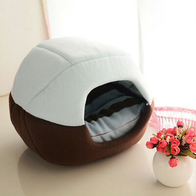 Cozy Puppy Pet Cat Dog Nest Bed Puppy Soft Warm Cave House Sleeping Bag Mat Pad