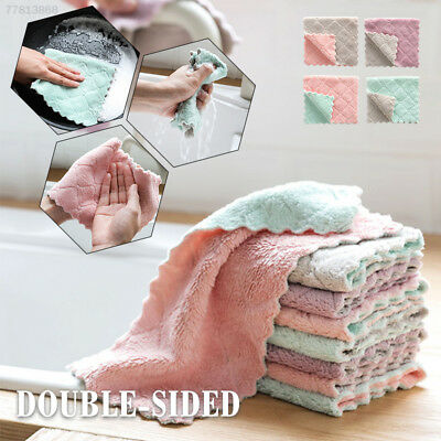 D4D0 Absorbent Tableware Home Tools Kitchen Towel Cloths Scouring Microfiber