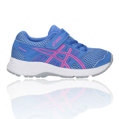 best website ad7b5 e14ac Asics Junior Gel-Contend 5 PS Running Shoes Trainers Sneakers Blue Pink  Sports