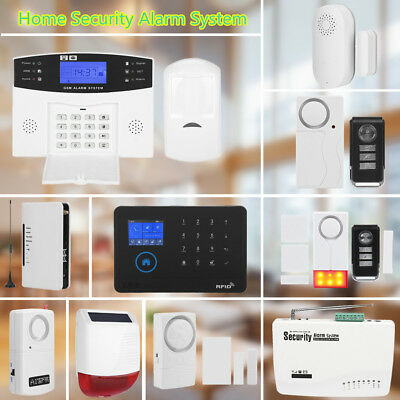 "2.4"" Wireless 3G/GSM+GPRS GSM WiFi Smart Security Alarm System Kit Home Burglar"