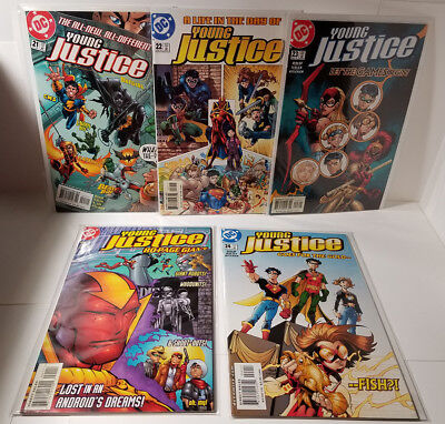 YOUNG JUSTICE DC Comics Lot 21-24  Robin Superboy Kid Flash NMT/VF FREE SHIPPING
