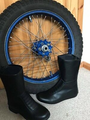 New Boxed Hedgehog Racing Speedway/flat Track Boots Black Sizes 6 - 12