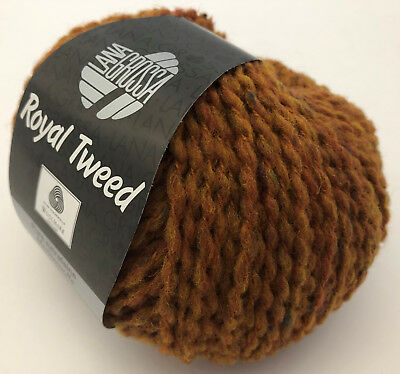Wolle 500 gramm Lana Grossa Royal Tweed Farbe 86   10 Knäuel a 50 gramm