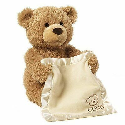 Peek A Boo Teddy Bear Toddler Kid Gift Children Child Play Soft Plush Blanket