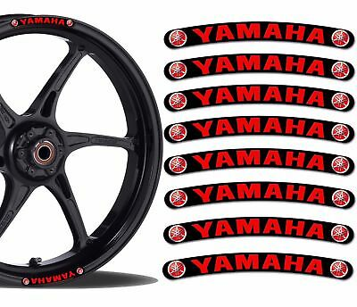 8x Yamaha Wheel Rim 3D Gel Sticker Stripe Car Bike Motorcycle Racing Decal
