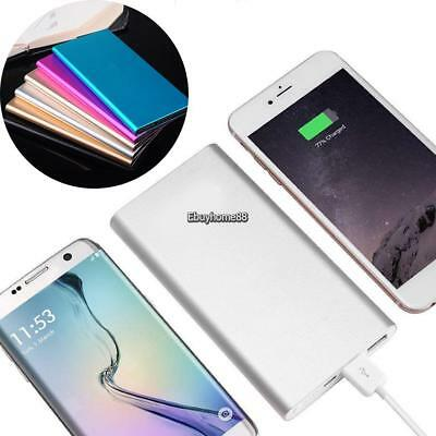 Ultra-thin 20000mAh Portable 2 USB External Battery Charger Power Bank for Phone