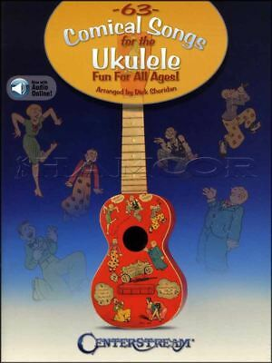 63 Comical Songs for the Ukulele TAB & Music Book/Audio Chords Fun For All Ages