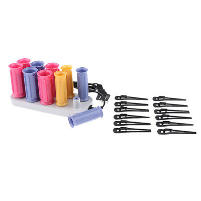 10x Women's Hair Fringe Bangs Styling Curlers USB Rollers Home Salon DIY
