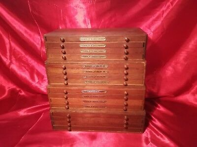 Antique Watchmakers Cabinet 16 Drawer