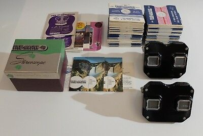 2 x Sawyer´s View Master Stereoscope+ 115 Stück Viewmaster Reel