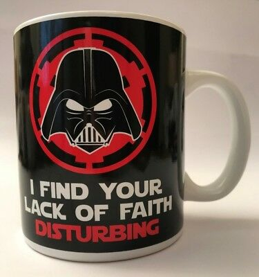 Official Star Wars Darth Vader Lack Of Faith Retro Mug Coffee Cup New Unboxed