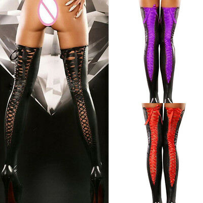 Women Socks Sexy Club Comfortable ThighHigh Stockings Leather LaceBow Long Socks
