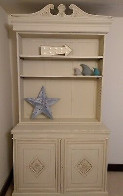 Cream dresser armoire sideboard bookcase french handpainted large