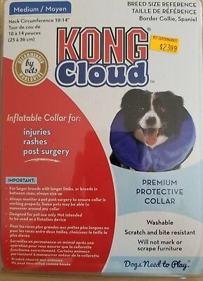 Protective Collar Dog Cat Soft Inflatable Injuries Surgery Itching  Medium New