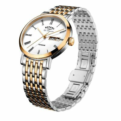 235b051b4271 Gents Rotary Swiss Made Watch on Gold Plated Bracelet GB90155 01 RRP £209