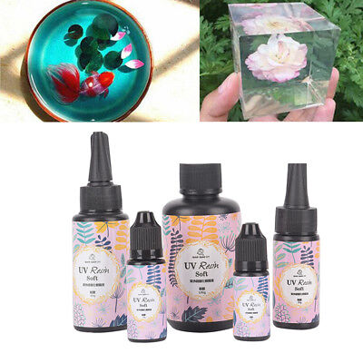 Transparent UV Resin Ultraviolet Solar Cure Activated Soft DIY Craft Ornament PD