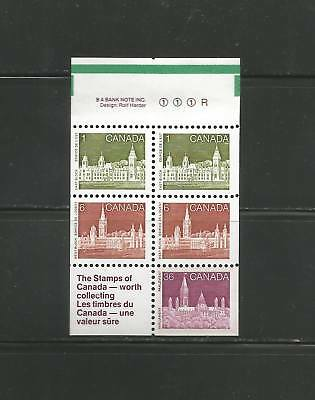 PARLIAMENT  BOOKLET PANE OF 5 + LABEL   # 948a   LF