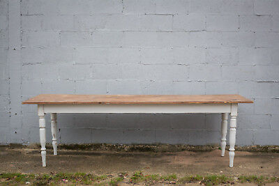 2.7m Long, French Antique Table, Kitchen Island, Vintage