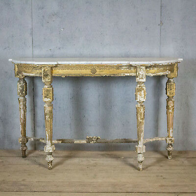 Lovely French Antique Marble Top Console Table