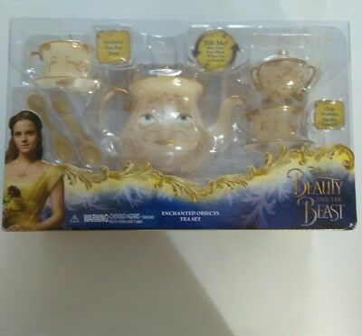 Disney Beauty and the Beast ENCHANTED OBJECTS Tea Set NEW IN BOX