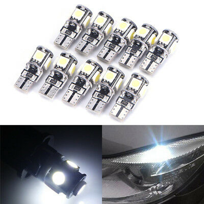 10x T10 Led Canbus Fehlerfrei 5 SMD Auto Side Wedge Glühbirne White168 194 PDH