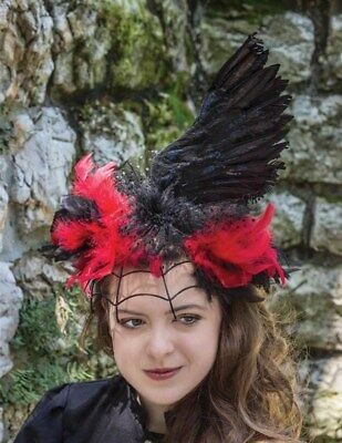 Halloween Raven/'s Wing Lace /& Feather Sleeve Victorian Trading Co