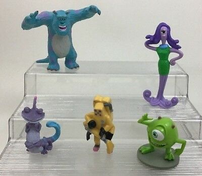 Monsters Inc Figures Lot 5pc Toys PVC Cake Toppers Toy Mike Celia Disney 2001 A2