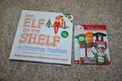 NWT-Boy the Elf on the Shelf Christmas Tradition Doll, Book, Suitcase & Clothes