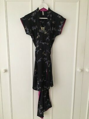 Topshop Chinese Style Tunic Dress in 'Navy' (UK8/US4/EU36) (RRP £75) 34% Disc