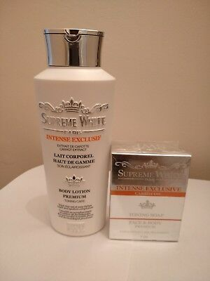Supreme White Intensive Carrot Lotion And Soap GIFT FOR CHRISTMAS