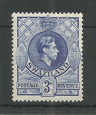 SWAZILAND 1938 GEORGE 6TH 3d ULTRAMARINE SG,32 M/MINT LOT 1461B
