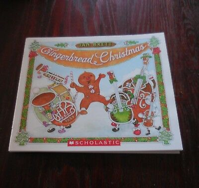 Gingerbread Christmas by Jan Brett New Paperback Book Only