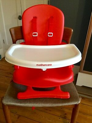 Mothercare Deluxe Folding Travel Booster Seat Portable Highchair With Tray Used