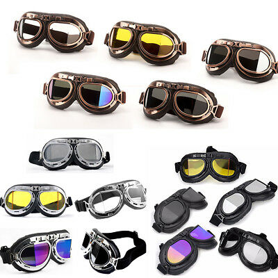b6698dfdfd Retro Vintage Aviator Pilot Motorcycle Cruiser Scooter Biker Goggles For  Harley