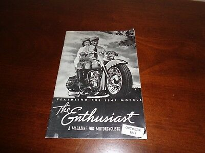 1948 The Enthusiast Magazine for Motorcyclists Harley Davidson